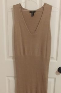 Forever 21 large Tan Sweater Dress